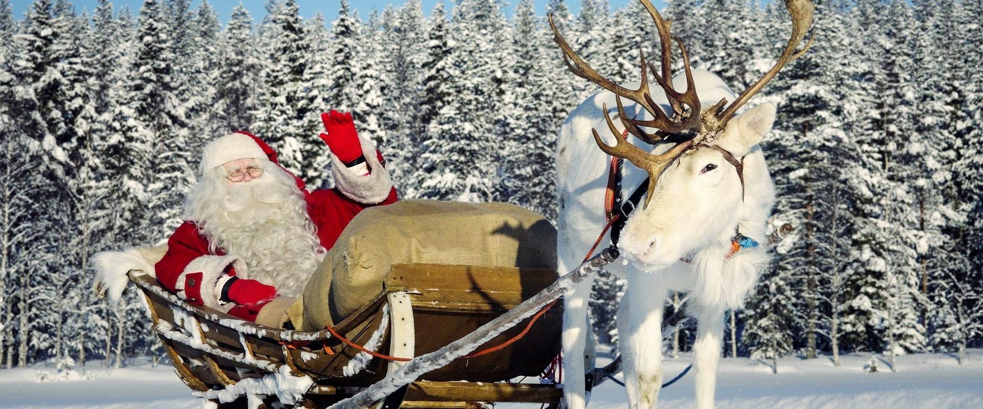 A Rena Mais Famosa Do Papai Noel pacote lendas de natal na lapônia com papai noel  trains